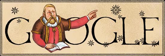 شعار الجوجل يحتفل بميلاد تيخو tycho-brahes-467th-b